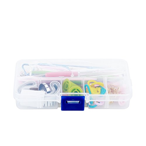 Knitting Accessory Kit 56 Pcs Basic Knitting and Crochet Tools Sewing Kit Supplies with Tape Measure,Stitch Needle Holder, Scissor and Other Accessories by ZJchao