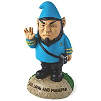 """BigMouth Inc Officially Licensed Star Trek Spock Gnome Statue, 9"""" Tall, Funny Lawn Gnome Perfect for Gardens, Weatherproof Star Trek Fan Gift"""
