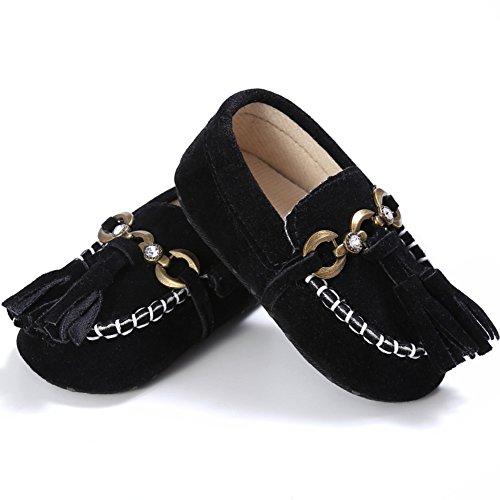 Etrack-Online  Baby Loafers, Baby Jungen Lauflernschuhe Schwarz