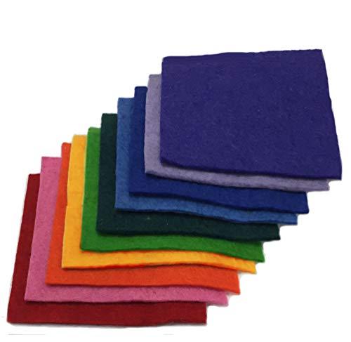 (Handmade 100% Wool Felt ~ 3-4mm Thick - TEN 6