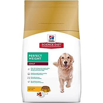 Hill's Science Diet Adult Perfect Weight Chicken Recipe Dry Dog Food, 4 lb bag