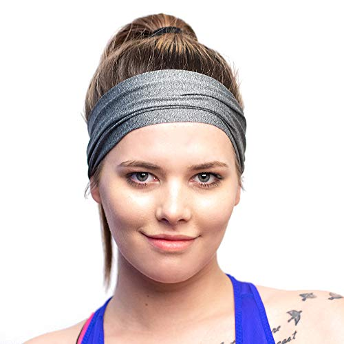 Red Dust Active Lightweight Sports Headband - Moisture Wicking Sweatband - Ideal for Running, Cycling, Hot Yoga and Athletic Workouts - Designed for Women Borrowed by Men