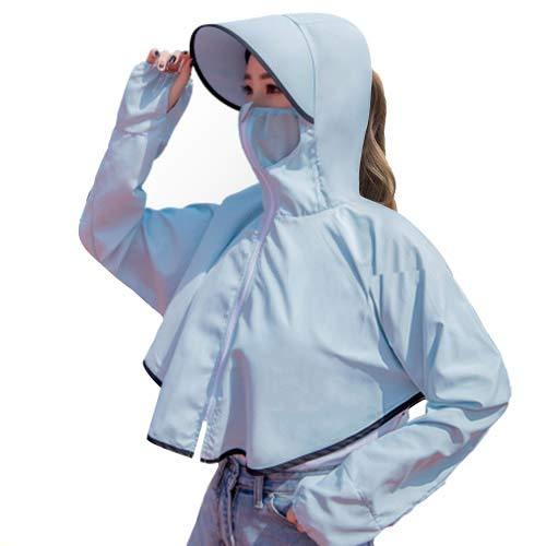 자외선 차단제 의류 UV 캇도 차양 모자 자외선 차단 여성 자전거 낚시 야외 화이트 뷰티 가볍고 통기성 빠른 건조 블루