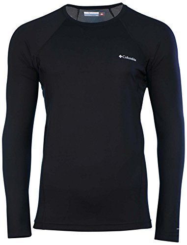 Columbia Mens Midweight Long Sleeve Base Layer Top-Black-Small
