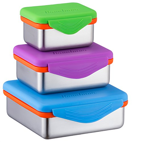 Stainless Steel Food Containers with Snapping Seal Leak-proof ()