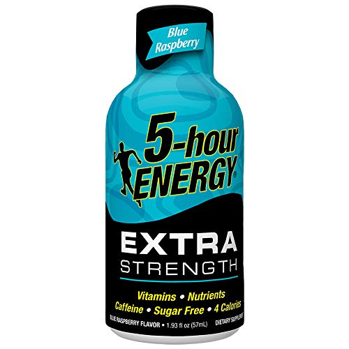 Extra Strength 5-hour ENERGY Shots – Blue Raspberry – 24 Count
