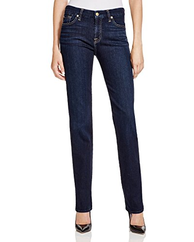 7 For All Mankind Women's Kimmie Straight In Dark Dusk Indigo Dark Dusk Indigo 30 33 by 7 For All Mankind