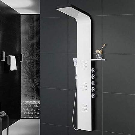 Ducha Ducha de Acero Inoxidable Conjunto de Ducha de Cinco Funciones Mampara de Ducha Columna de Ducha Baño termostato de baño Baño Negro Mezclador de Ducha Grifo: Amazon.es: Hogar