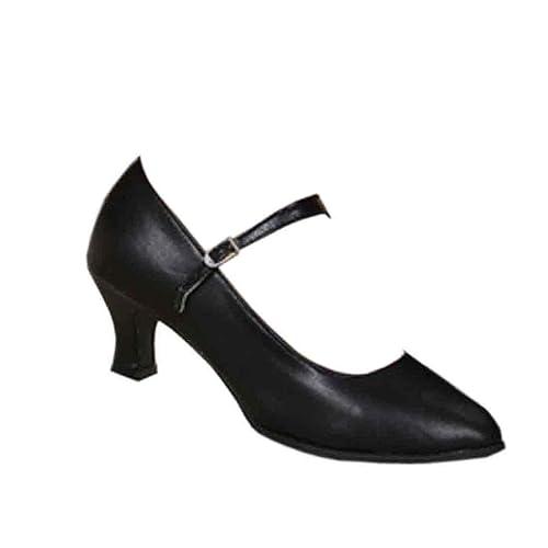 IOSHAPO Zapatos para Mujer de tacón Alto para Baile Latino