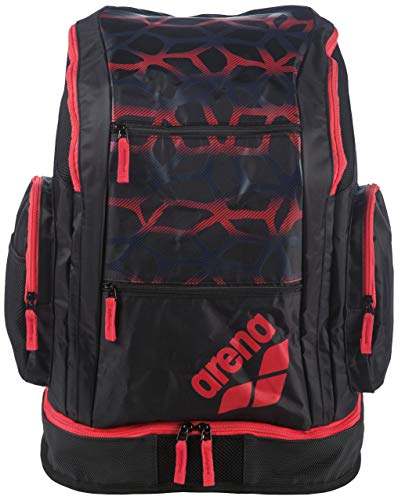 arena Spiky 2 Spider Print Large Backpack, Spider Black Red, Size NS