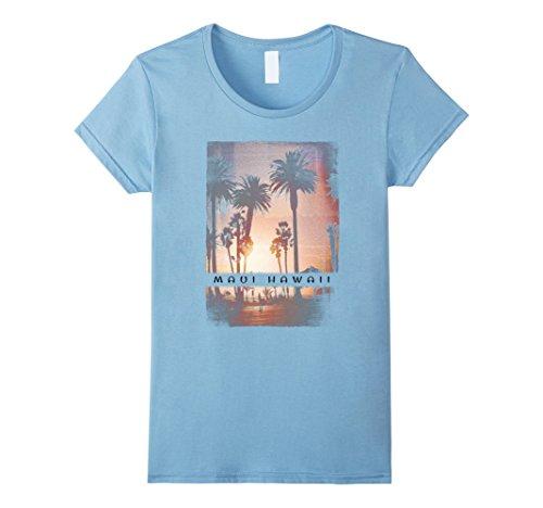 Womens Maui T Shirt Hawaii Retro Adult Kids Beach Sunset Apparel Medium Baby - Lahaina Shops At