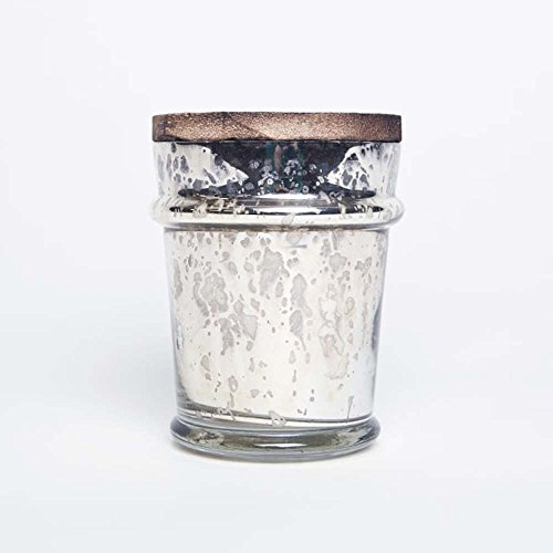 Capri Blue 8 ounce Mercury Found Glass with Lid Aloha Orchid