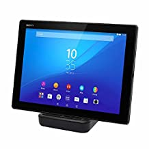 ONX3 (Black) Tablet Desktop Charger Micro USB Base with Sliding Port Stand Data Sync Charging Docking Station for Samsung Samsung Galaxy View 18.4""