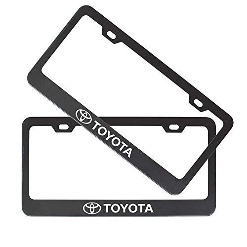 toyota license plate frame black - 2