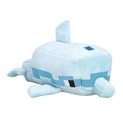 "JINX Minecraft Happy Explorer Dolphin Plush Stuffed Toy (Grey, 8"" Long)"