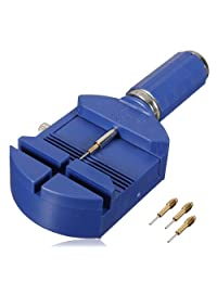 BABAN Watch Band Link Pin Remover for Bracelet Adjustment Watch Sizing With 3 Extra Pins Blue