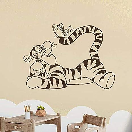Wzun Wandtattoo Kleiner Bar Tiger Vinyl Aufkleber Cartoon Kunst Dekoration Familien Schlafzimmer Kinderzimmer Kinderzimmer Dekoration 42x57cm Amazon De Kuche Haushalt