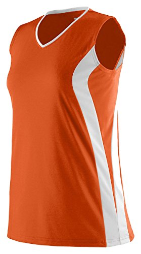 Augusta Sportswear Ladies' Triumph Sleeveless V-Neck Jersey XL Orange/White