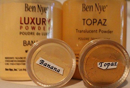2Pc. SAMPLE 10-ml Jars/Ben Nye Luxury Set (Banana & Topaz) (Nye Ben Set Powder)