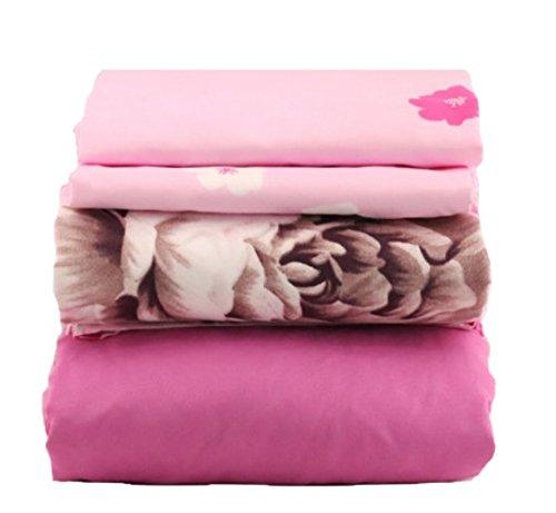 Pink Brown Paisley - JAYCORNER 1800 Series Super Soft Egyptian Comfort 4pcs Queen Sheet Set Floral Blue Pink Brown