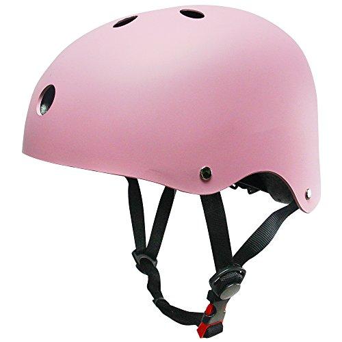 [Kuyou] Helmet ABS Hard Rubber for Skateboard /Ski /Skating/Roller Snowboard Helmet Protective Gear Suitable Kids and Youth,(Pink)