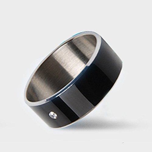 Vktech® NFC Magic Wear Smart Ring for Android Cell Phone Samsung HTC (62.8mm Black)