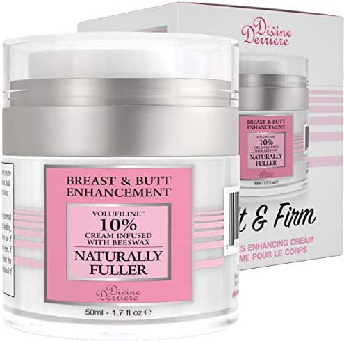 Divine Derriere Breast Enlargement Cream - Natural Breast Enhancement Cream For Bust and Butt, Natural Curves, Firming, Lifting and Plumping with Handbook ($49 Value)