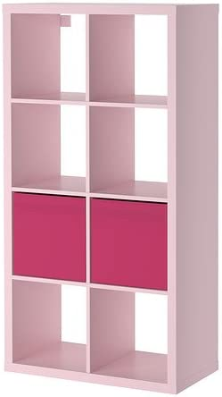 IKEA KALLAX/Drona - estantería con 2 accesorios, rosa claro ...