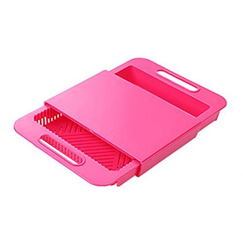 (JUNKAI Multifunction Chopping Sink Drain Cutting Board Telescopic Cooking Cutting Board Detachable Filter Water 3 in 1)