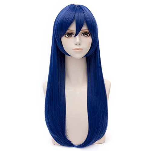 Kadiya Character Play Long Straight Blue Cosplay Wig Synthetic Wigs Hair