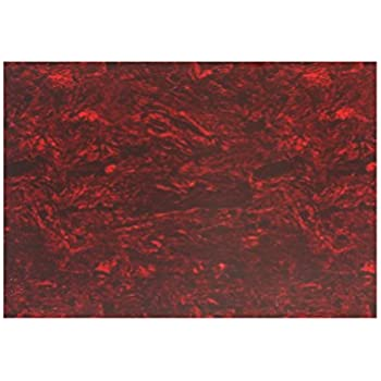 Musiclily 20x25CM Blank Self Adhesive Acoustic Guitar Pickguard Sheet Material Scratch Plate Custom Red Tortoise