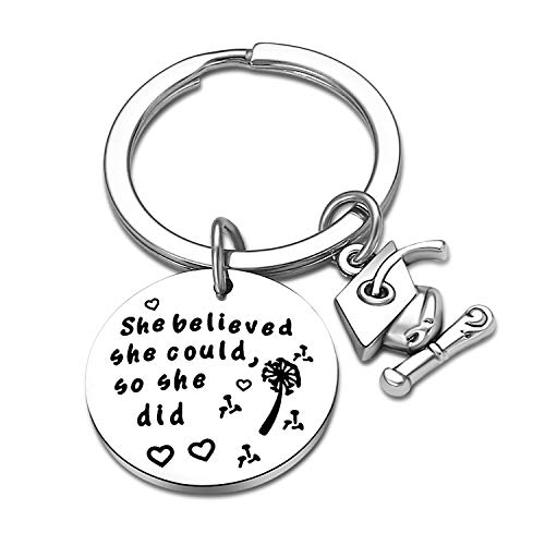 Graduation Gifts for Daughter Student, Graduation Keychain Gifts for Her, Grad Gifts for Graduates Friends She Believed She Could So She Did (Style 1)