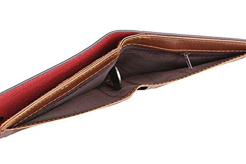 Genda 2Archer Herren Soft-Tasche Bifold Brieftasche Vintage-Knopfverschluss ID Kreditkarteninhaber (Style 5) Style 8