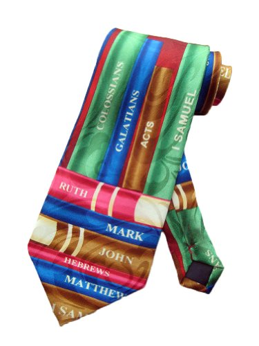 Steven Harris Mens Bible Books Old Testament Necktie - Blue - One Size Neck (Necktie Bible)