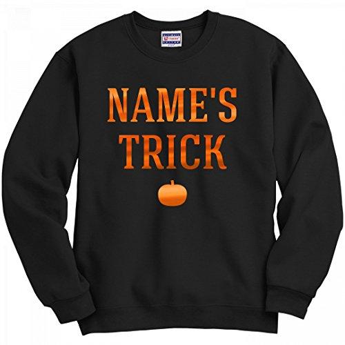 Couple Halloween Customs (Halloween Couple Custom Name Trick: Unisex Hanes Ultimate Crewneck Sweatshirt)