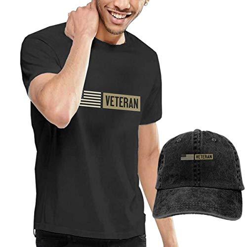 sunminey Homme T- T-Shirt Polos et Chemises Military Veteran Washed Baseball-Cap + T-Shirt Combo Set 1