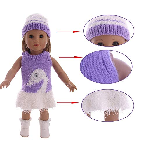 Matoen Accessory Toy Daily Costumes Doll Clothes Dress for 18 Inch American Girl New Clothes Doll (Without Doll) (A, Multicolor) -