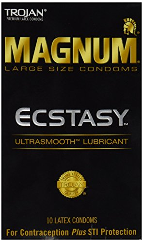 (Trojan Magnum Ecstasy Lubricated Condoms, 10 Count (Pack of 2))