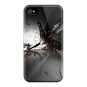 Iphone Case - Tpu Case Protective For Iphone 4/4s- Abstract 1