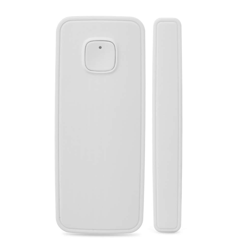 WiFi Smart - Detector de puerta y ventana con sensor magné tico compatible con Alexa Echo, Google Home, IFTTT no requiere Hub LEEBA