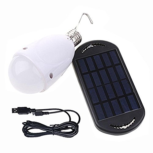 Solar 100W Led Light Bulbs String Lights with USB Rechargeable Energy Saving Waterproof Camping ...