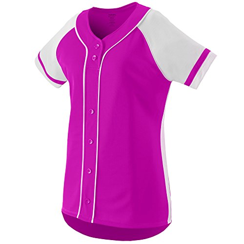 Augusta Sportswear WOMEN'S WINNER SOFTBALL JERSEY L Power Pink/White - Pink Softball Jerseys