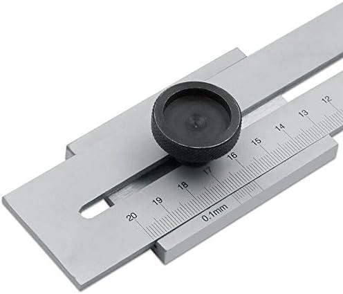 Regla de acero inoxidable Powertool para medir la madera