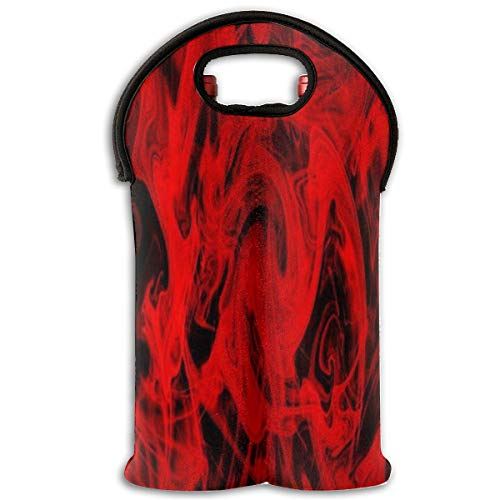 Wine Bag Red Flames Cool 2 Bottle Red Wine Tote Bag Protective Champagne Carrier Bag
