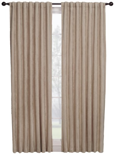 Suede Panel - 1888 Mills Austin  56-inch-by-63-inch Single Blackout Panel, Natural
