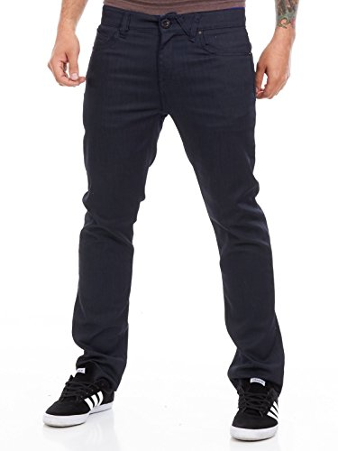 - Volcom Coated Indigo Solver Modern Straight Fit Jeans (28