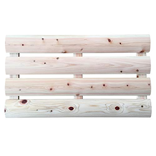 IPPINKA Natural Japanese Hinoki Wood Bath Mat, 24 x 14 in ()