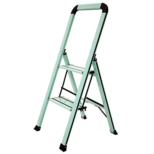 Ascent ADS2-001-TL 2 Designer Series Aluminum Step Stools 2, Teal