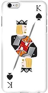 Stylizedd Apple iPhone 6 Plus Premium Slim Snap case cover Gloss Finish - King of Spades I6P-S-93