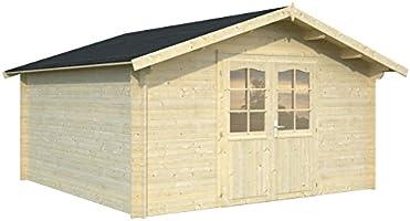 Box Casitas de madera caseta de jardín de madera 34 mm-13,9 mq-italfrom04: Amazon.es: Hogar